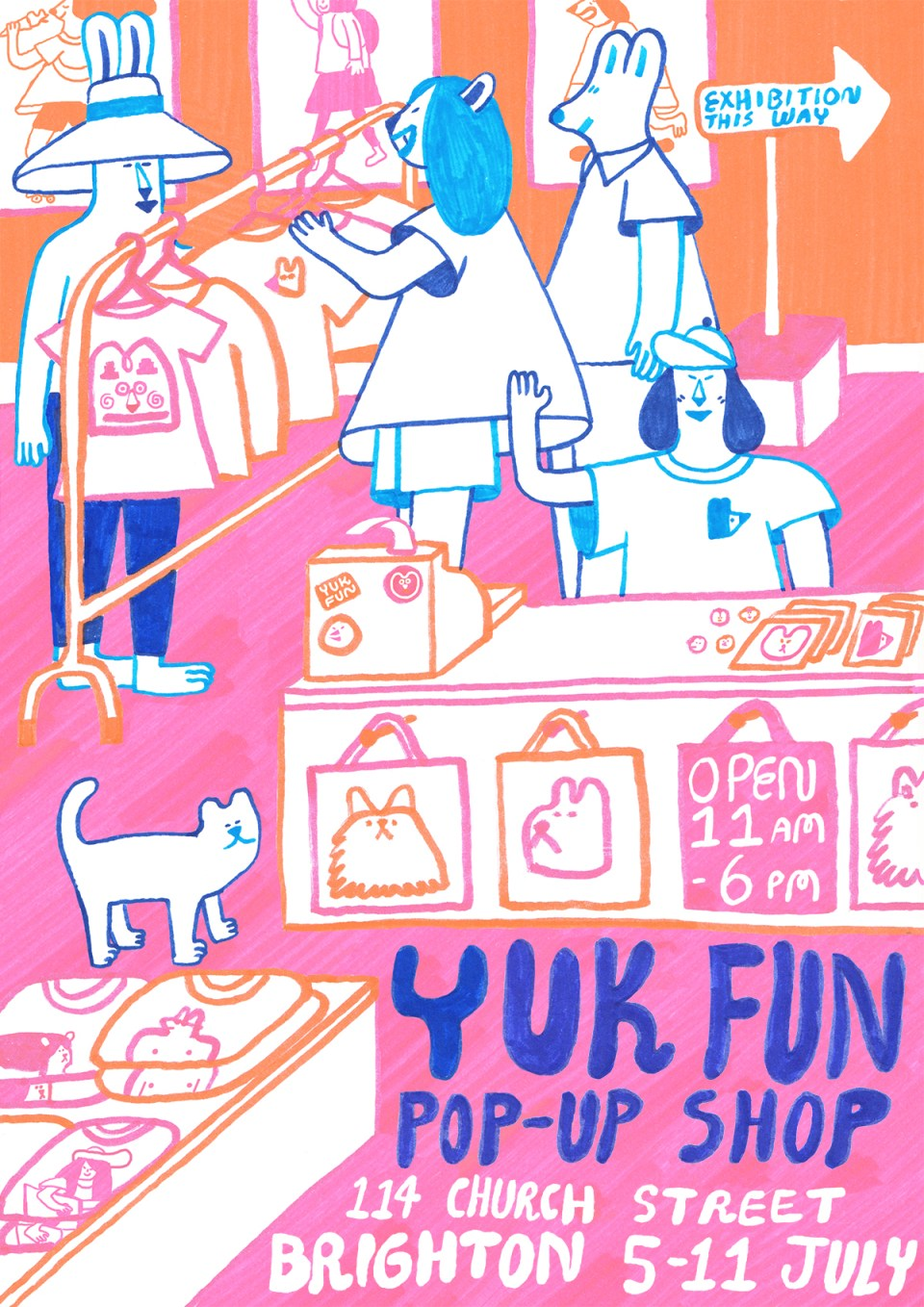 YUK FUN pop up shop flyer