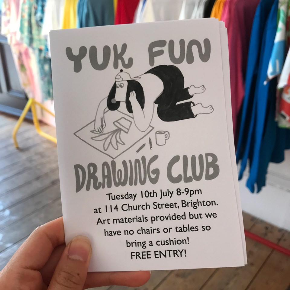 YUK FUN Drawing Club flyer