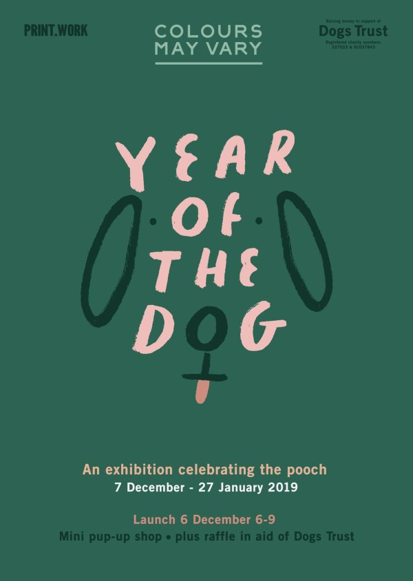 Year of The Dog Exhibition curated by Colours may Vary