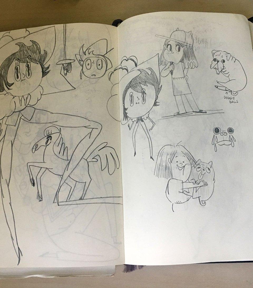Genie Espinosa Sketchbook page