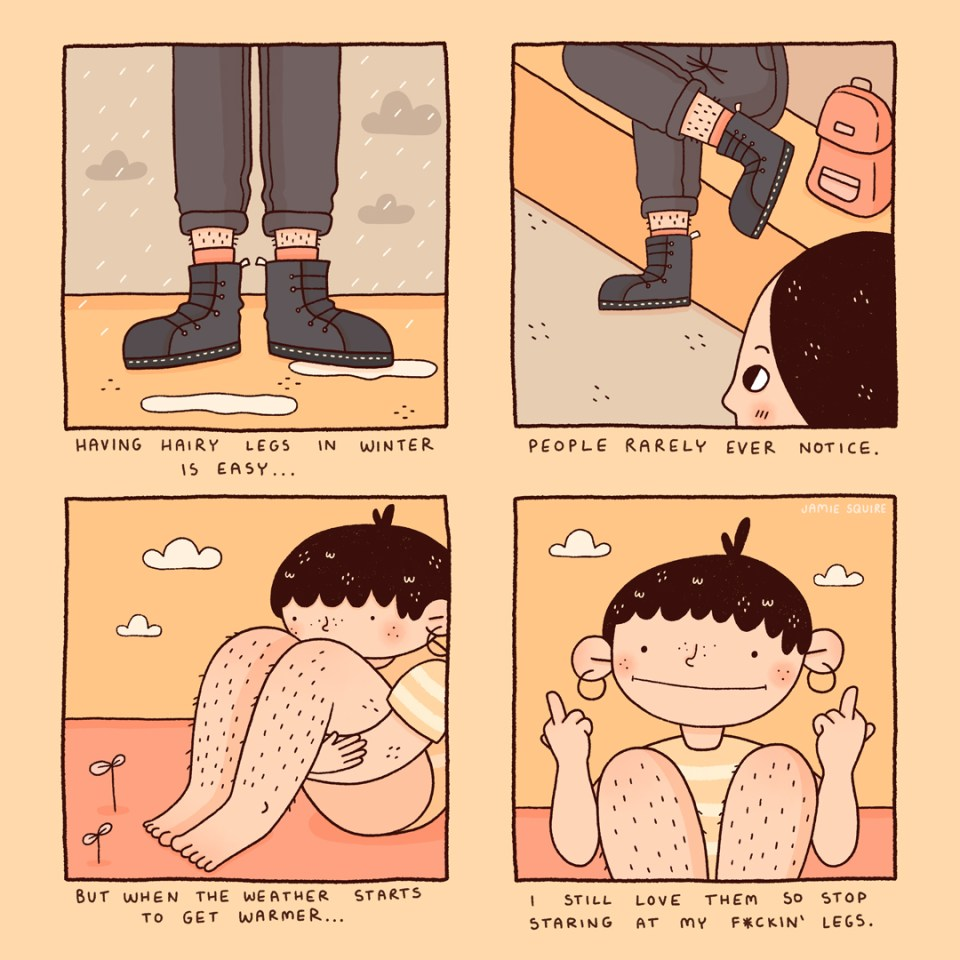 Hairy Legs comic by Jamie Squire