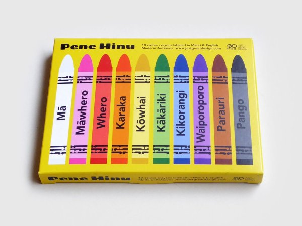Maori crayon box