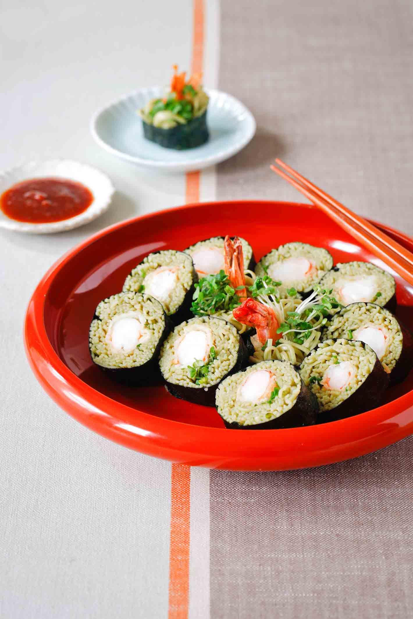 soba noodle sushi recipe with yuki