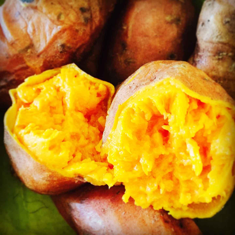 oven baked sweet potatoes ready for making korokke