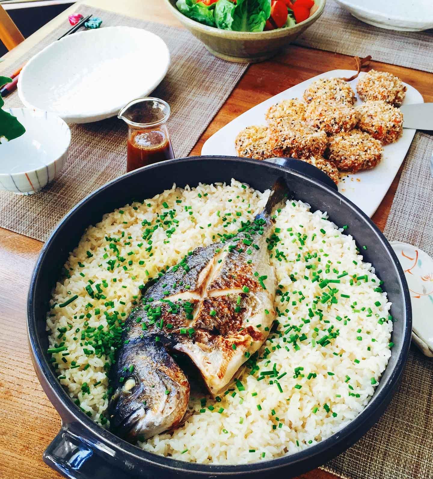 a japanese sea bream dish called tai meshi