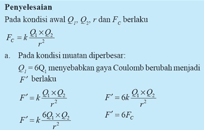 pengertian muatan listrik bunyi hukum coulomb