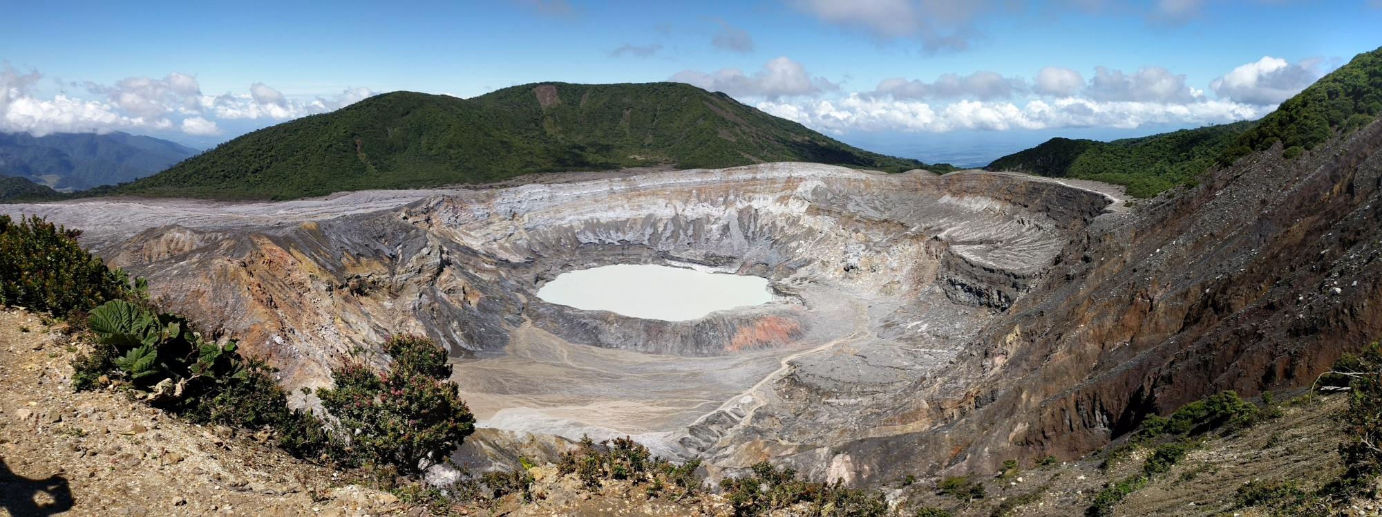 Costa Rica et sa région volcanique et ses chutes