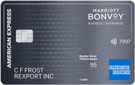 Carte Marriott BonvoyMC entreprise American Expressᴹᴰ