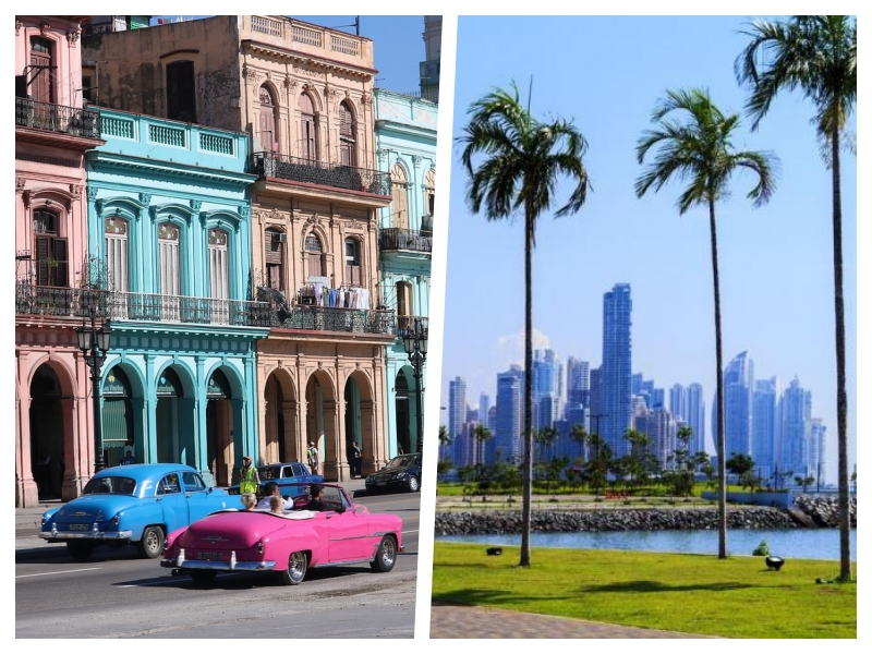 2 for 1 trip ! Fly to Havana and Panama starting at only 439$ from Montreal