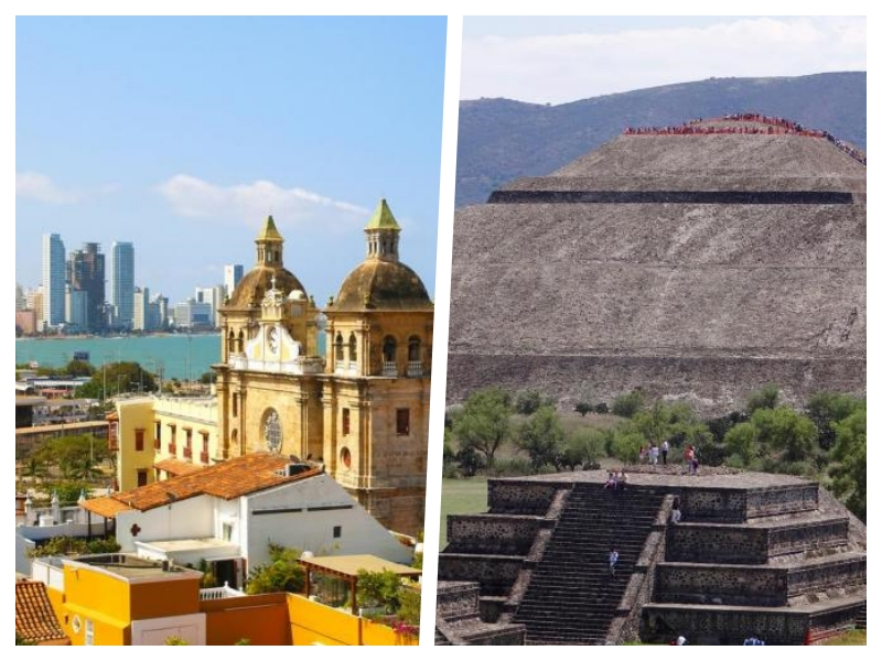 2 for 1 trip ! Fly to Cartagena and Mexico City starting at only 418$ from Montreal