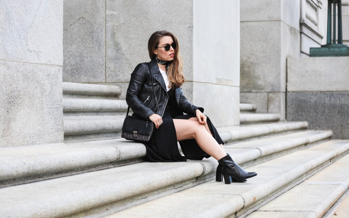 HOW TO WEAR A JACKET OVER DRESS