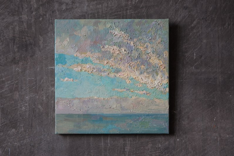 art, painting, oil, canvas, sea, sky