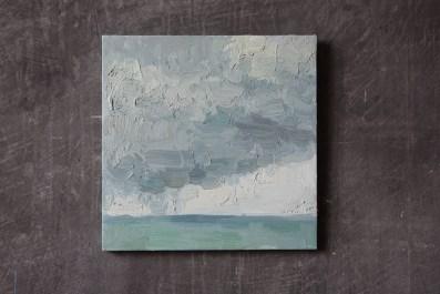 art, painting, oil, canvas, sea, sky