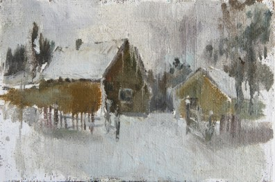 cardboard, canvas, oil, painting