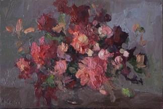 Bouquet, 20*30cm. oil on canvas