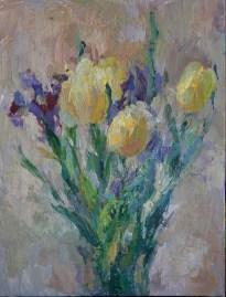 Yellow tulips 40.5-30cm. 200 €