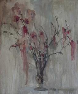 Pink magnolia 50-40cm. oil on canvas