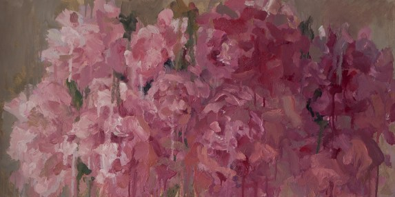 Pink peonies, 50-100cm. oil on canvas. 500€