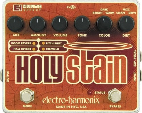 New Electro-Harmonix EHX Holy Stain Distortion//Reverb//Pitch// Multi-Effects Pedal
