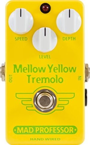 Mad Professor Mellow Yellow Tremolo Boutique Guitar Pedal Stomp Box Effect