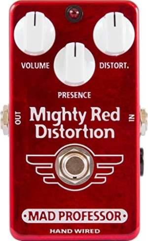 Mad Professor Mighty Red Distortion Boutique Guitar Pedal Stomp Box Effect