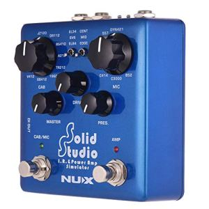 NUX Solid Studio IR and Power Amp Simulator Effect Pedal Dual Footswitch True Bypass