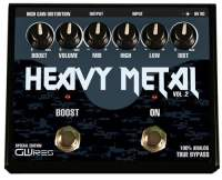 GWIres GHM3 Heavy Metal Distortion and Boost Guitar Pedal - Black