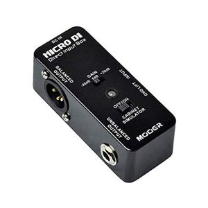 Mooer Micro DI Direct Input Box Guitar Effect Pedal with Ultra Low Distortion Quietly Transfers