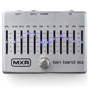 MXR 10-Band EQ Silver Guitars Effects Pedal M108S