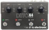 tc electronic Ditto X4 Dual Track Looper Guitar Effect Pedal Stomp Box