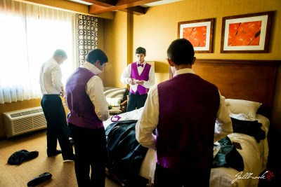 Bret and Crystal, San Diego natives, have their wedding and reception at Quechan Casino in Yuma, Arizona