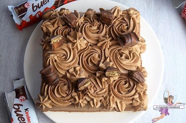 gateau kinder bueno recette au chocolat