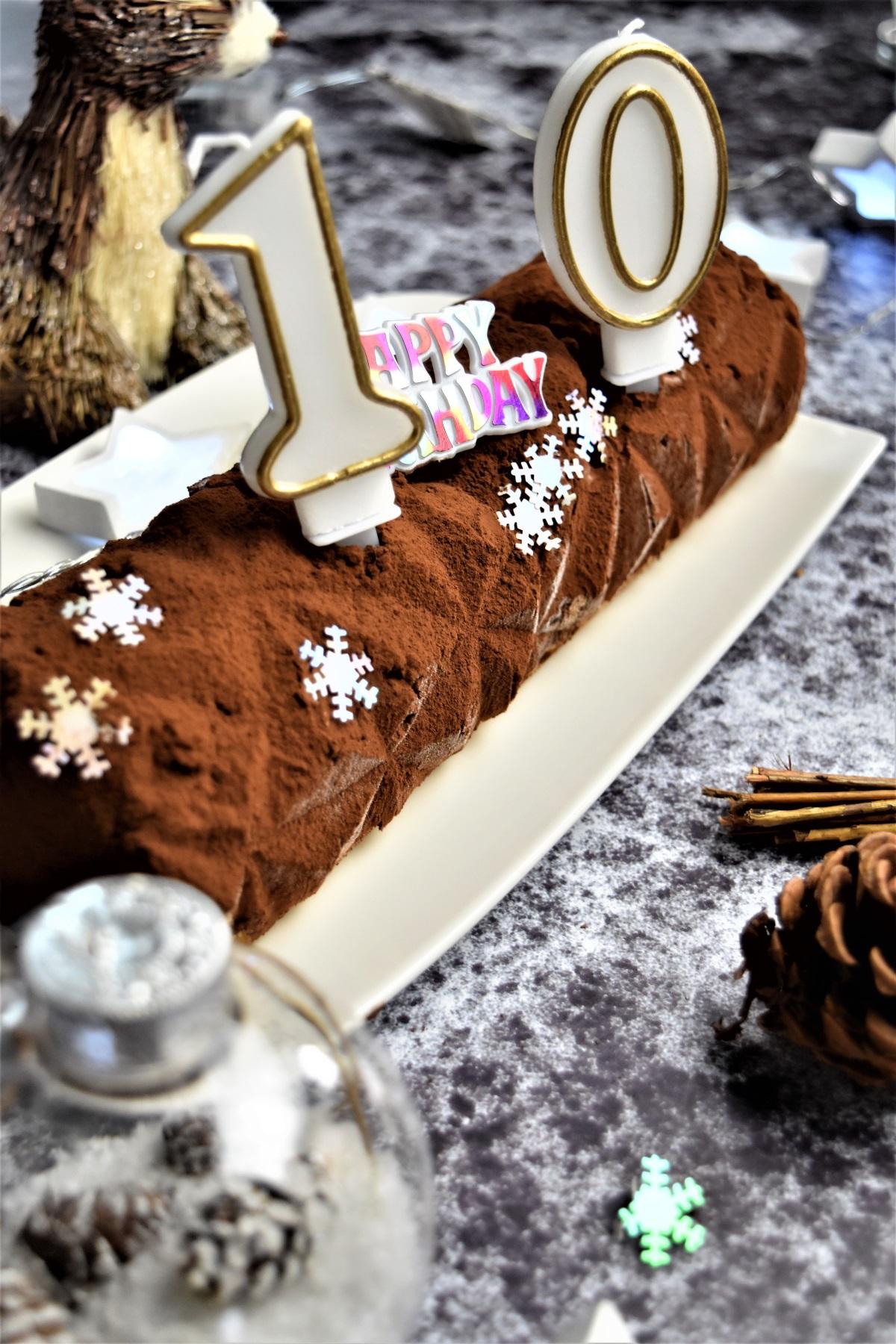 buche cheesecake chocolat sans cuisson