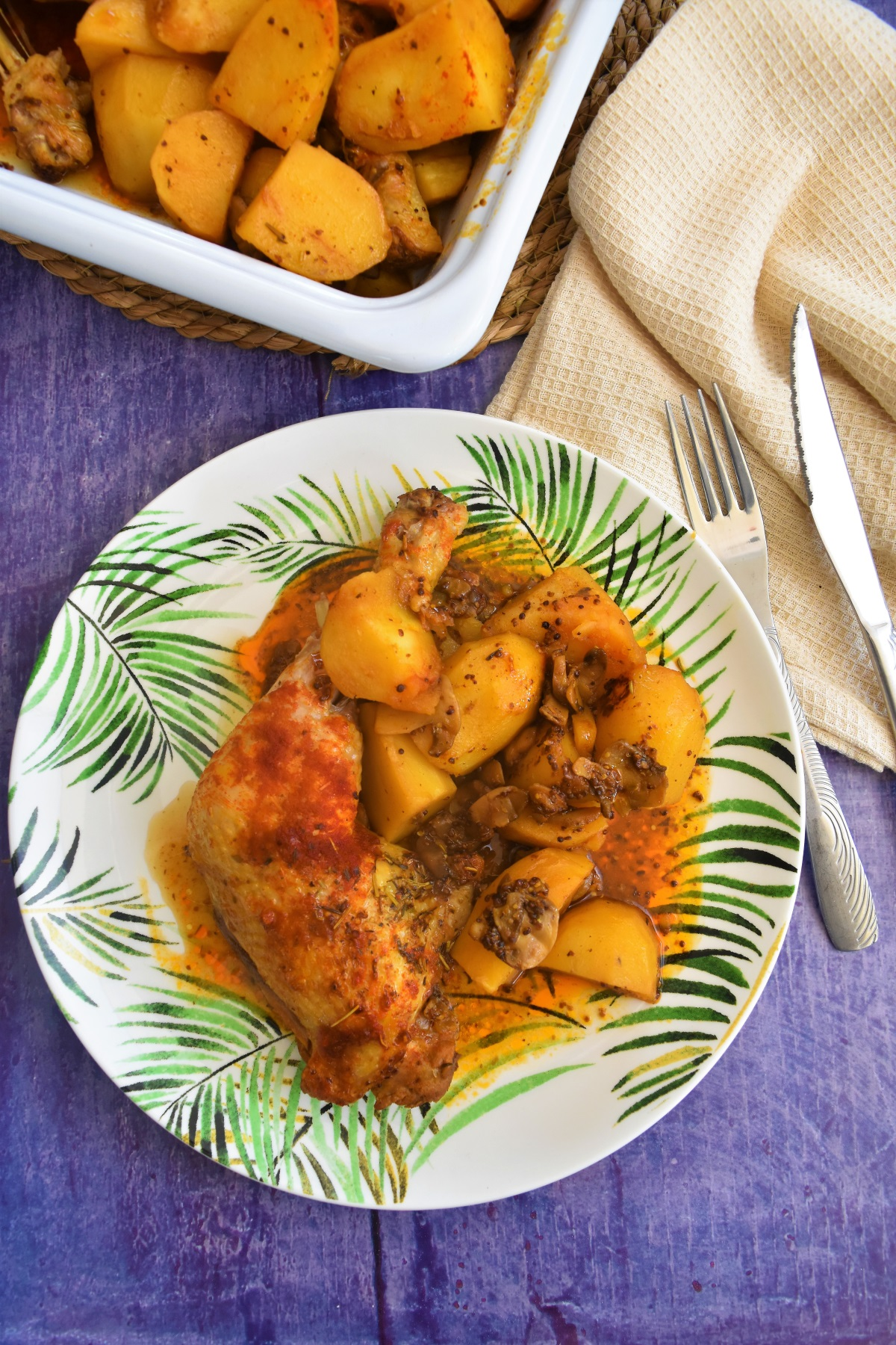 cuisses de poulet a la moutarde et paprika