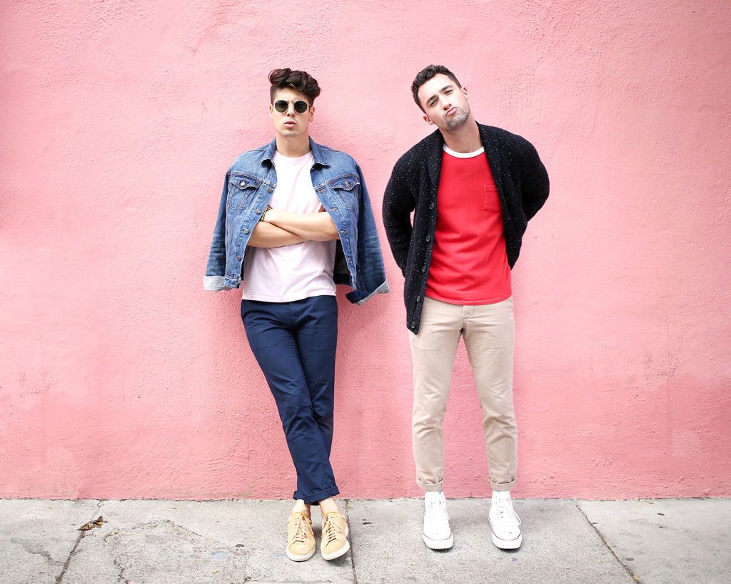 Brock and Chris, of Yummertime, wearing Gap x (RED)