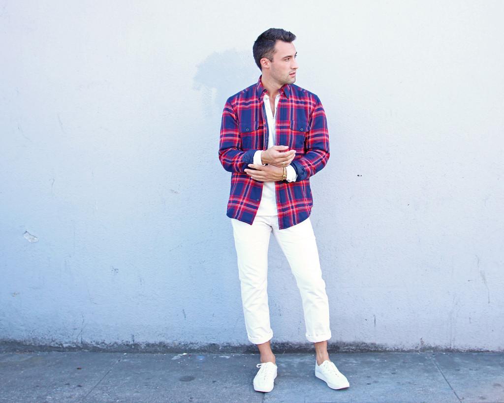 Chris, of Yummertime, styles men's jackets for fall