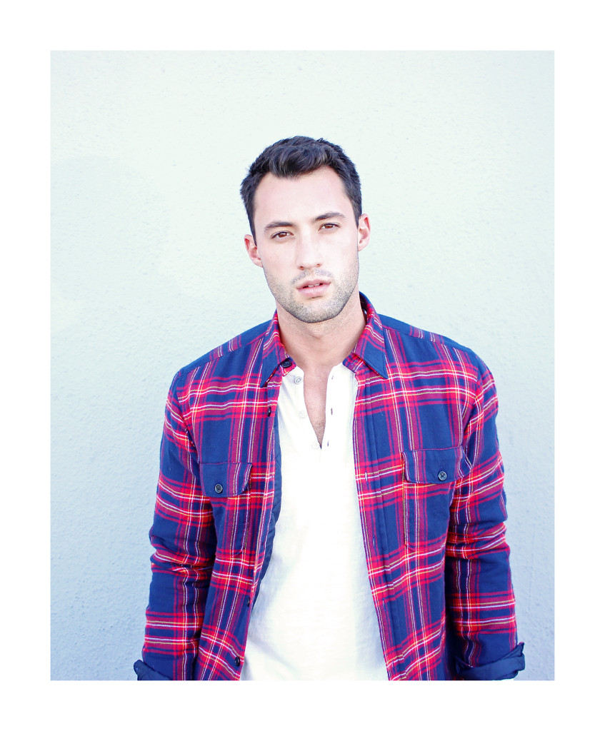 Chris, of Yummertime, wearing men's jackets for fall