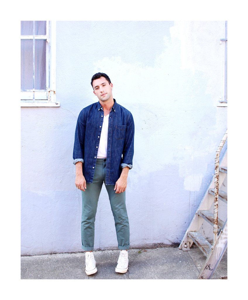 Chris, of Yummertime, styles fall layers for men