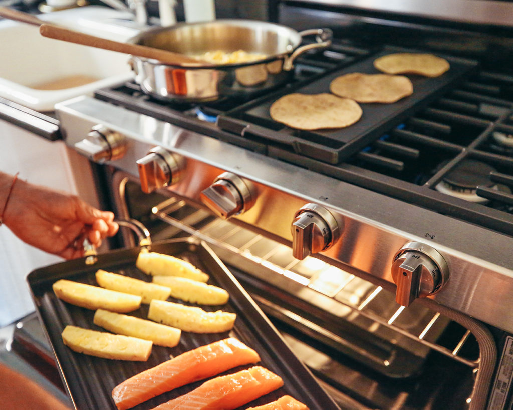 Yummertime and Maytag Double Oven Gas Range