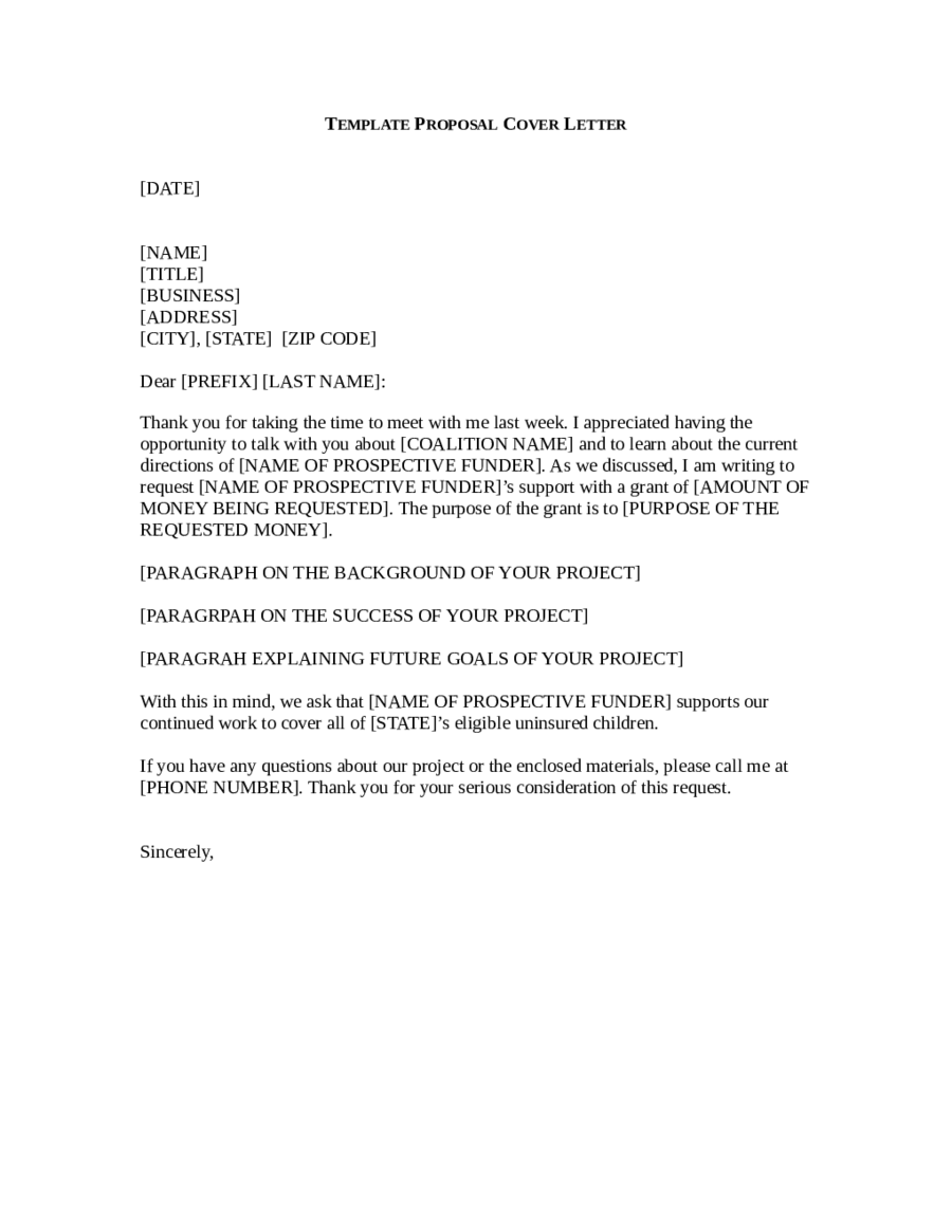 grant cover letter templates