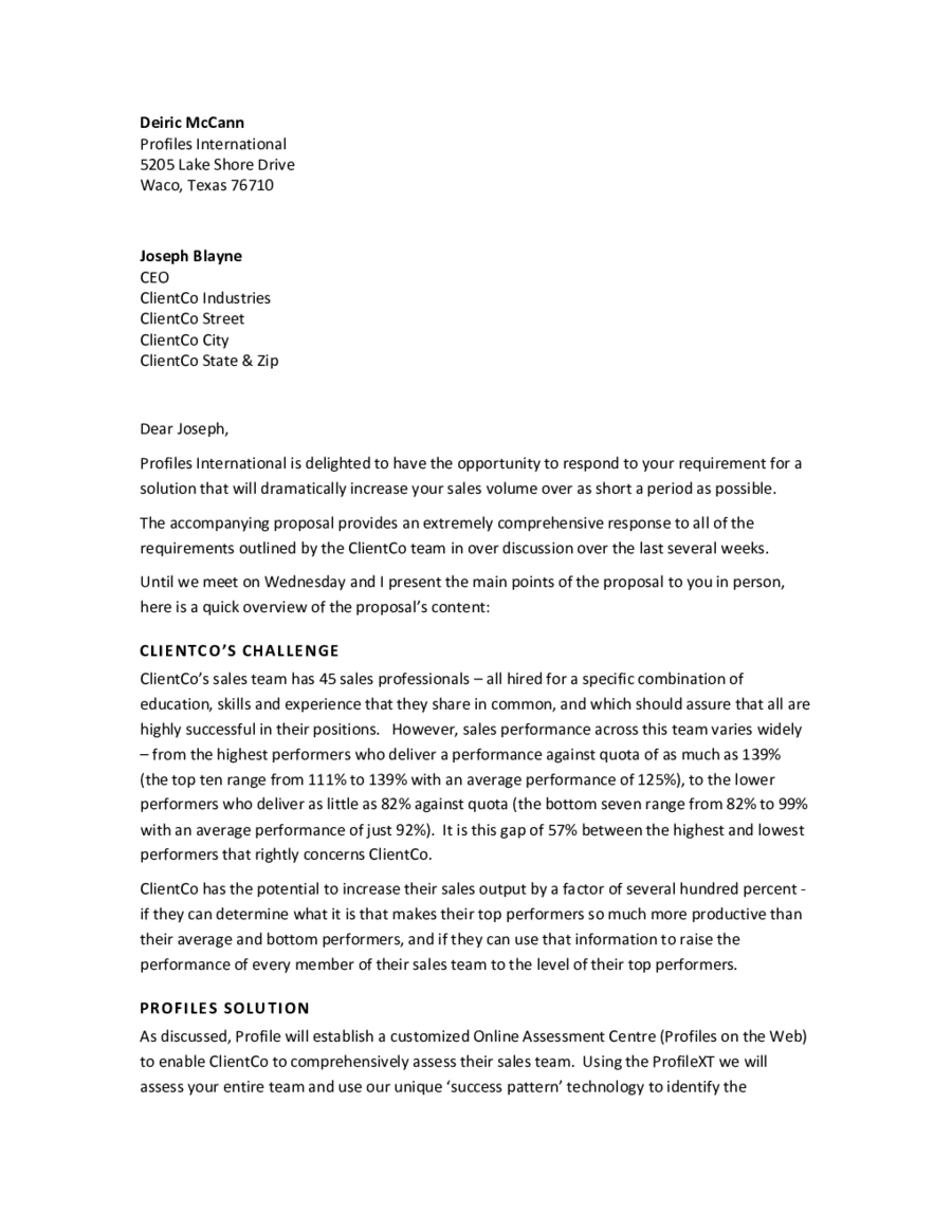 Doc12751650 Format of a Business Proposal Letter Business – Format for Proposal Letter