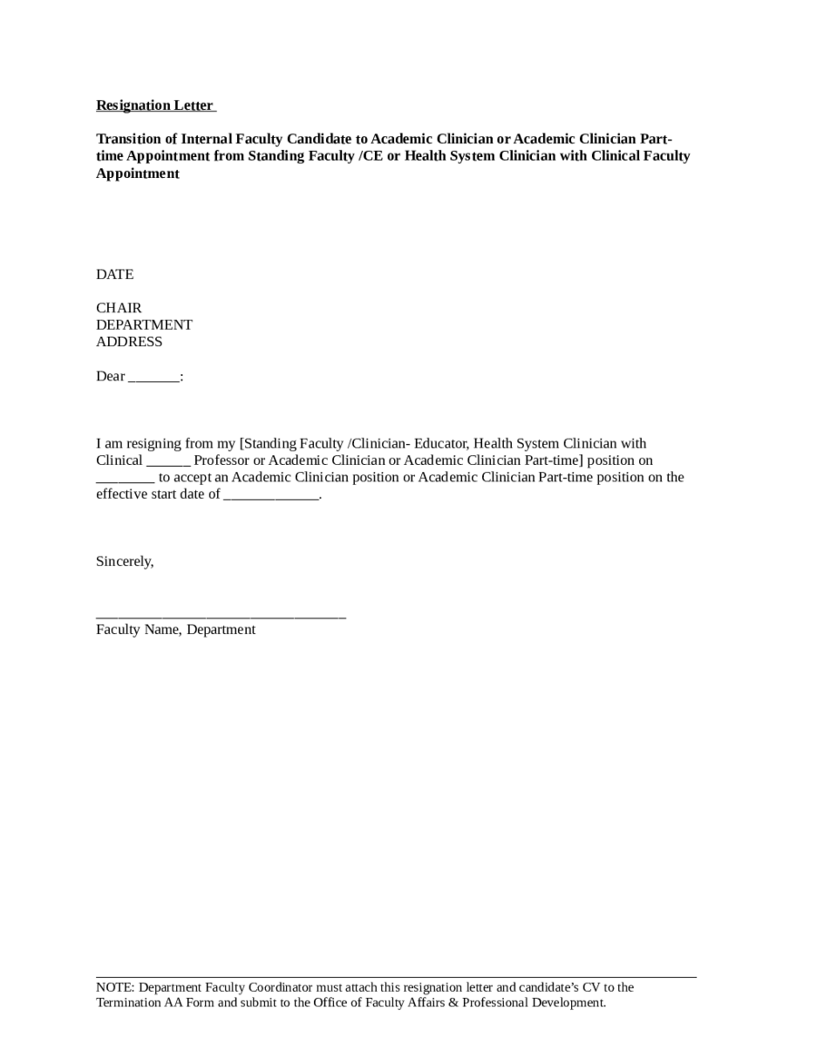 Employee Resignation Letter sample of cover letter for employment – Letter of Resignation of Employment