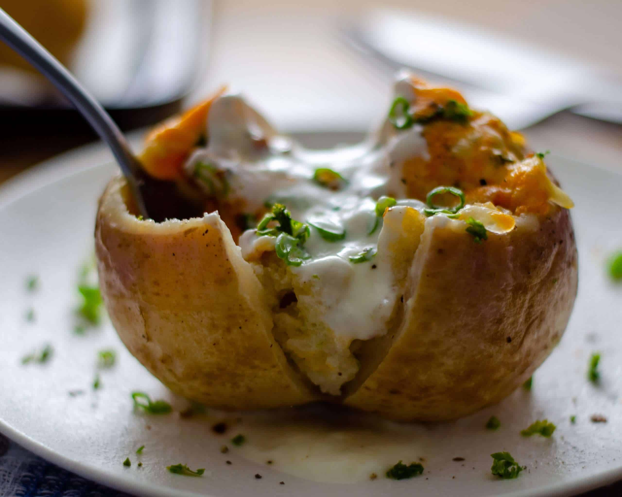 Low Carb Twice Baked Turnip with sour cream