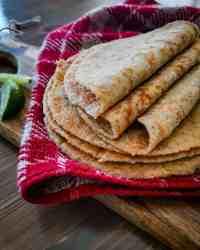 Homemade Keto tortillas folded