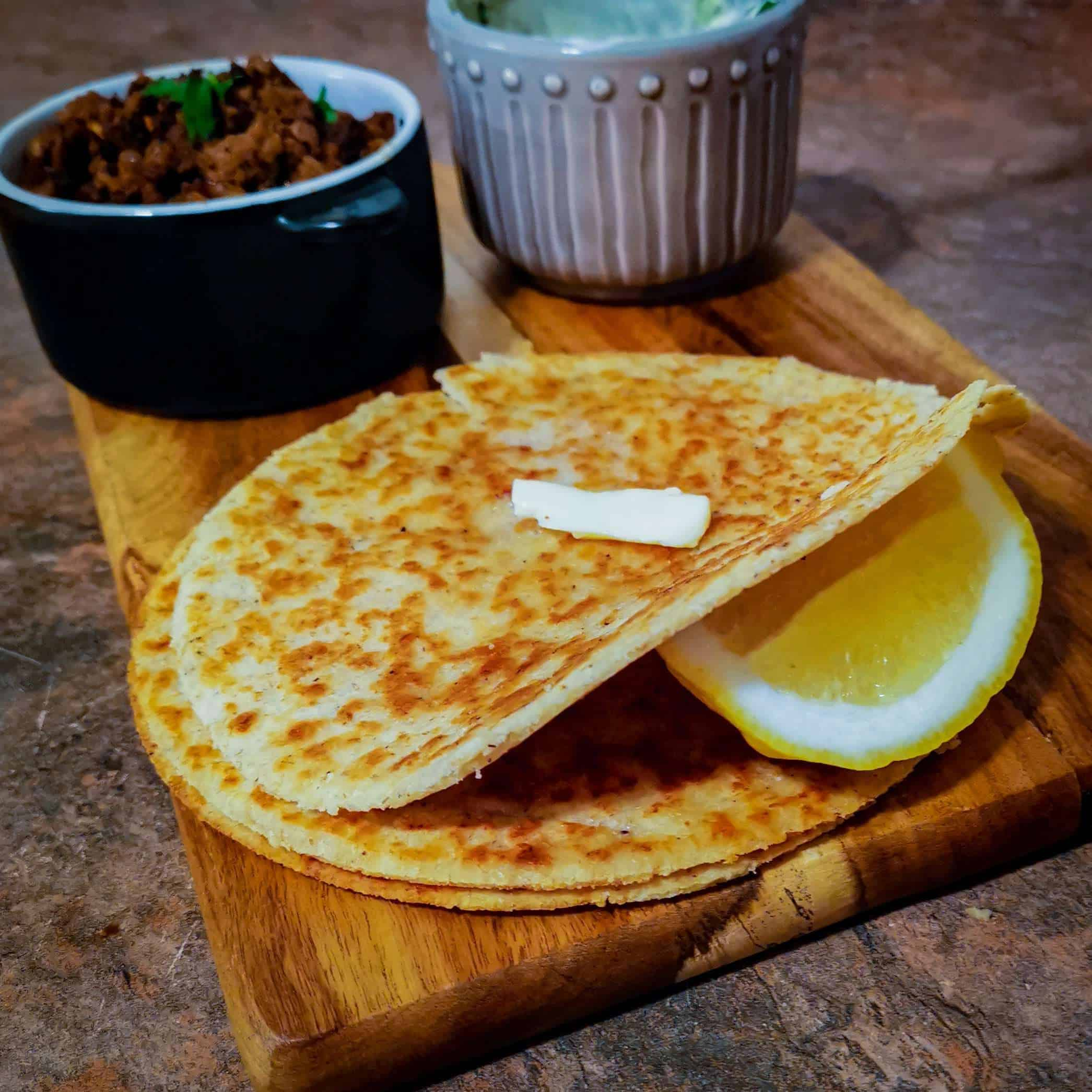 Keto tortilla fried crispy
