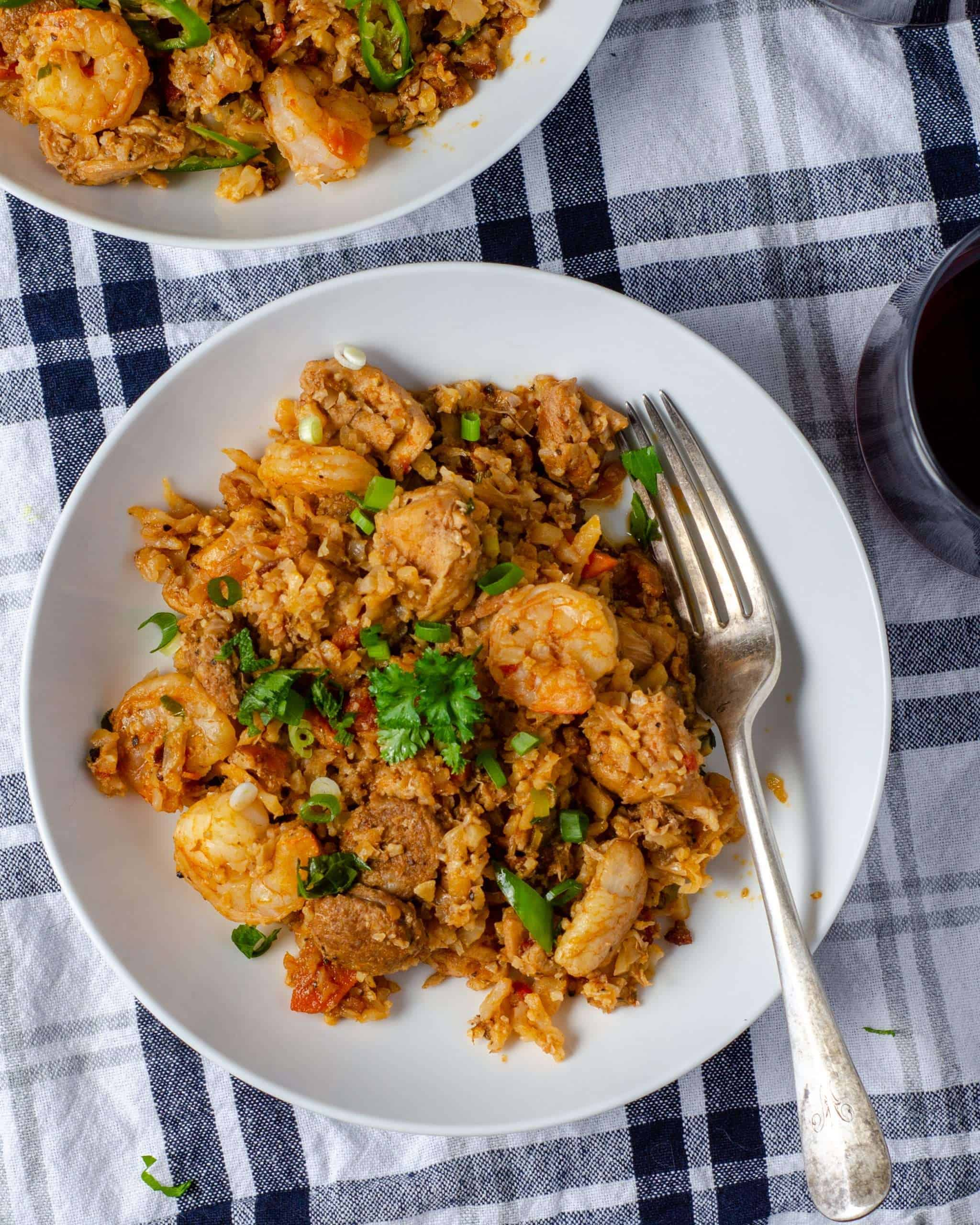 Cauliflower Rice Jambalaya