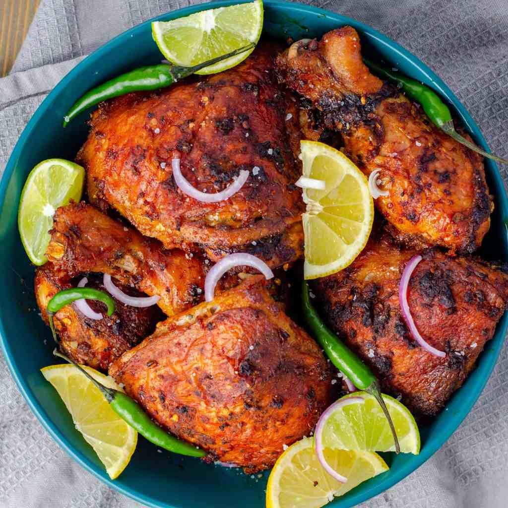 Keto Peri Peri Chicken served and garnished