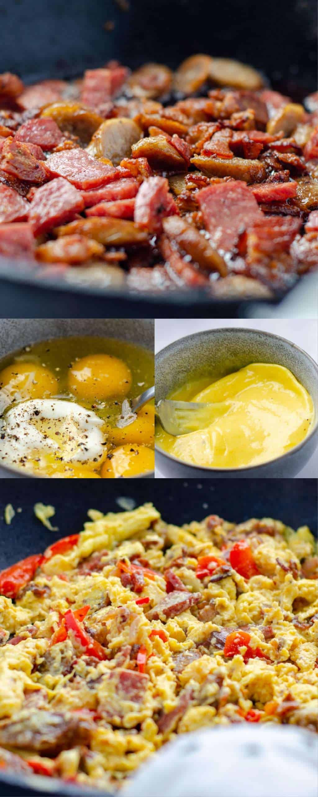 Recipe sequence image for protein scrambled eggs