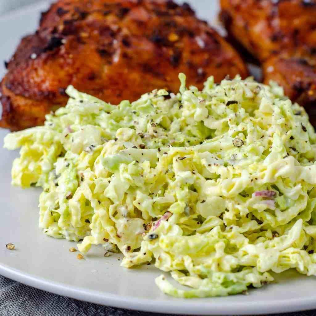 Basic Keto Coleslaw with Peri Peri Chicken