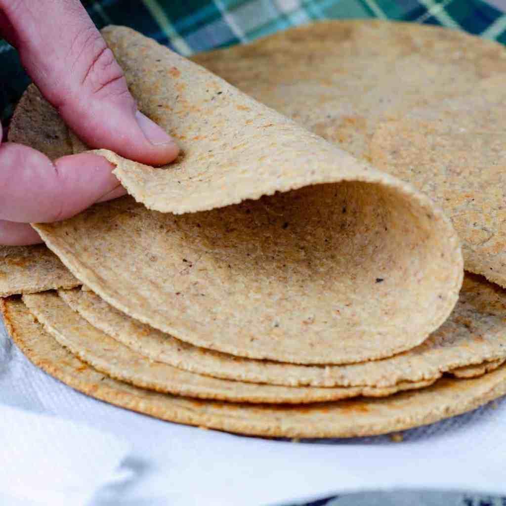 A flexible, soft low carb tortilla